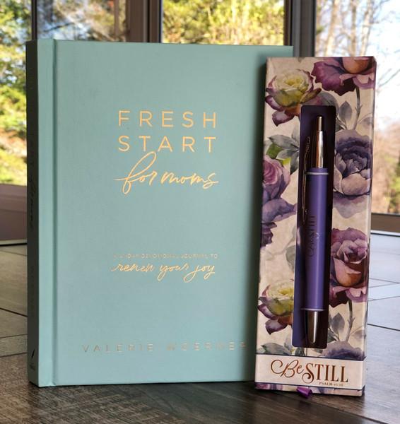 Fresh Start for Moms by Valerie Woerner and Pen Gift Set