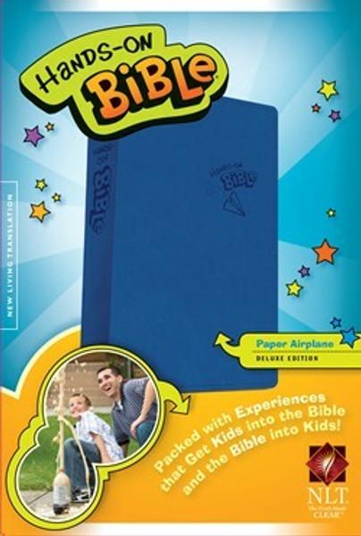 NLT Hands-On Bible, Blue Airplane LeatherLike