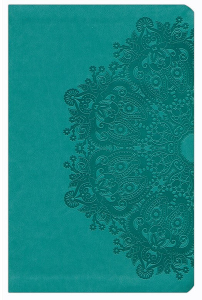 KJV Large Print Personal Size Reference Bible, Teal Leathertouch