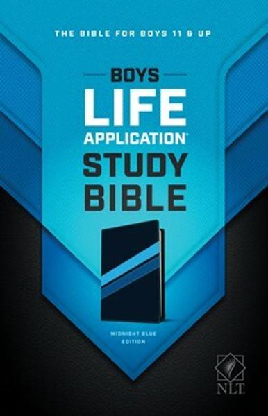 NLT Boys Life Application Study Bible, Midnight Blue LeatherLike