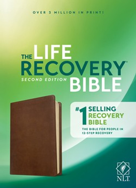 NLT Life Recovery Bible, Second Edition, Rustic Brown Leather-like