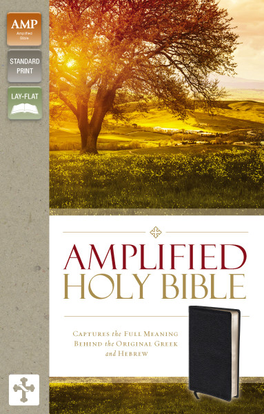 Amplified Bible Standard Print Black Bonded Leather