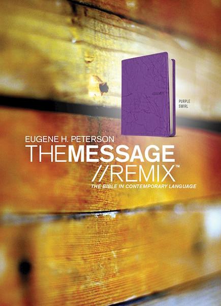 The Message Remix Bible, Purple Swirl LeatherLike