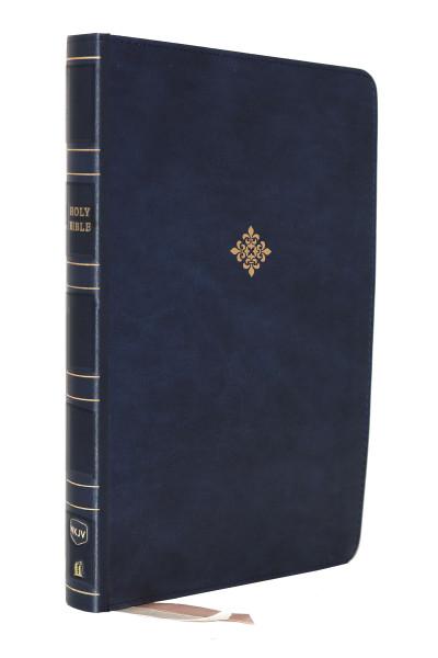 NKJV Large Print Thinline Reference Bible, Blue Leathersoft