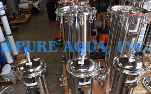 Boîtier de Filtre Multi-Cartouches en Acier Inoxydable 4 x 350000, 3 x 260000 et 3 x 115200 GPD - Koweït