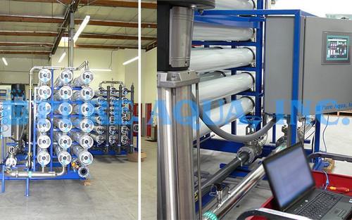Machine osmose industrielle d'Eau Saumâtre Inverse 3 x 528400 GPD - Emirats Arabes Unis