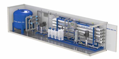 Système d'osmose inversée conteneurisé/mobile CRO