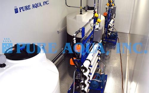 Système d'Eau de Mer en Conteneur Avec Prétraitement UF - 10000 GPD - États-Unis