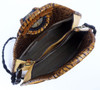 Leather Laced Oval Handle Shopper