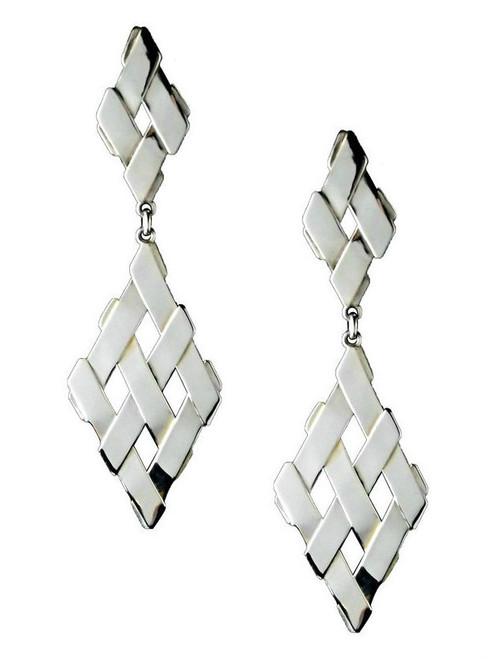 Sterling Silver Double Diamond Earrings