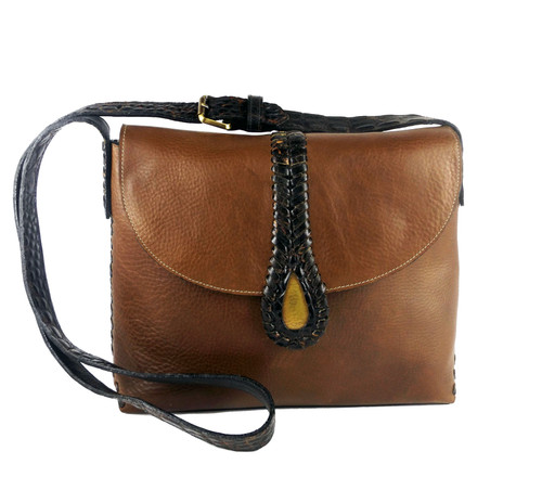 Rodeo Messenger Bag In Cognac Leather