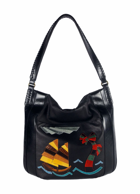 """China Sea"" Shoulder Bag In Black"