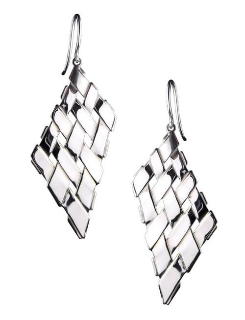 Sterling Silver Trapezoid Earrings