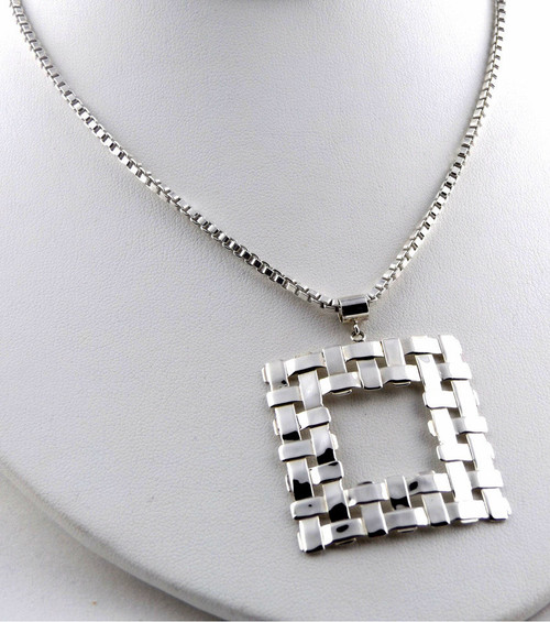 Sterling Silver Window Pendant Necklace
