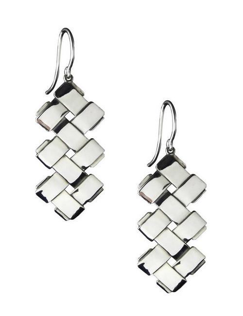 Sterling Silver Double Zig-Zag Earrings
