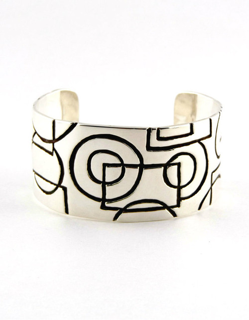 """Interrupted..."" Sterling Silver Cuff"
