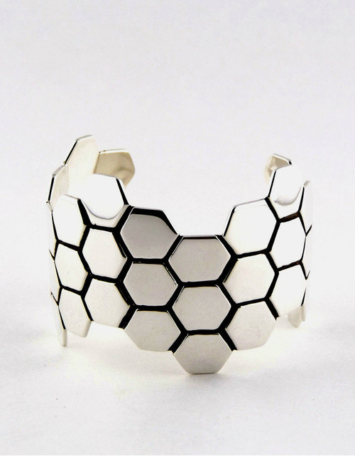 """Honeycomb"" Sterling Silver Cuff"