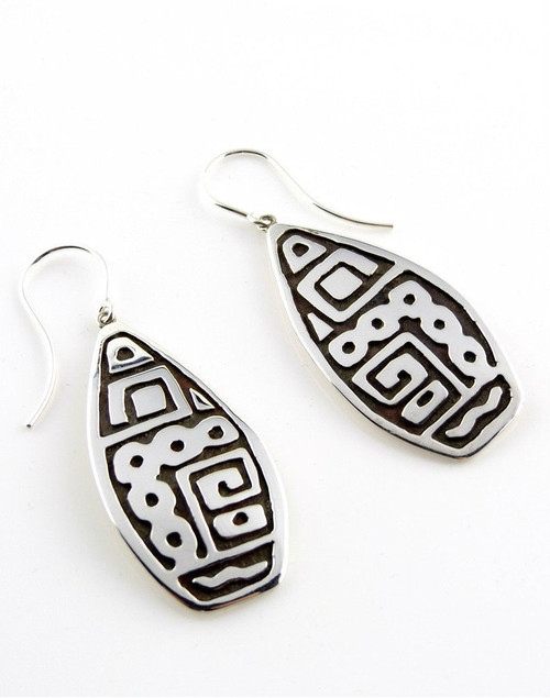 """El Astronomo De La Maya"" Sterling Silver Earrings"