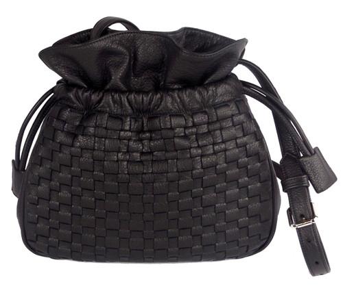 Amsterdam Drawstring Shoulder Bag Black