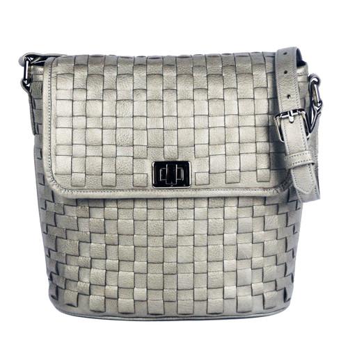 Astor Bucket Shoulder Bag Silver Pearl