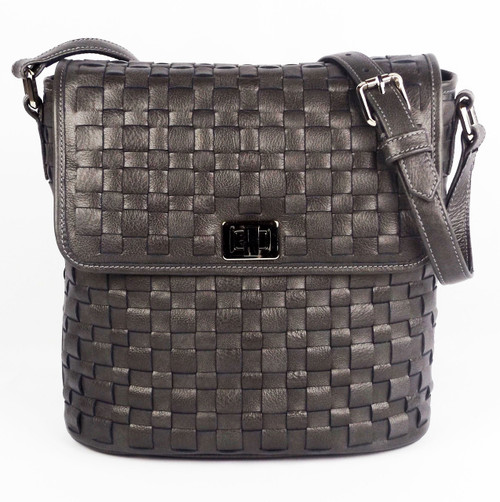 Astor Bucket Shoulder Bag Grey Pearl