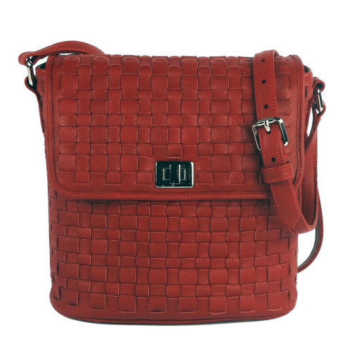 Astor Bucket Shoulder Bag Red