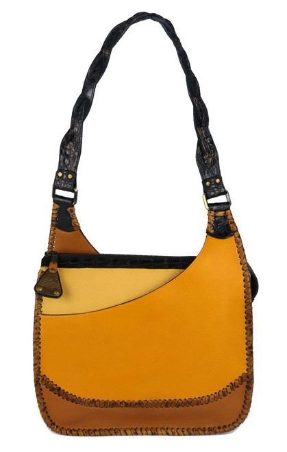Leather Laced Pockets Hobo