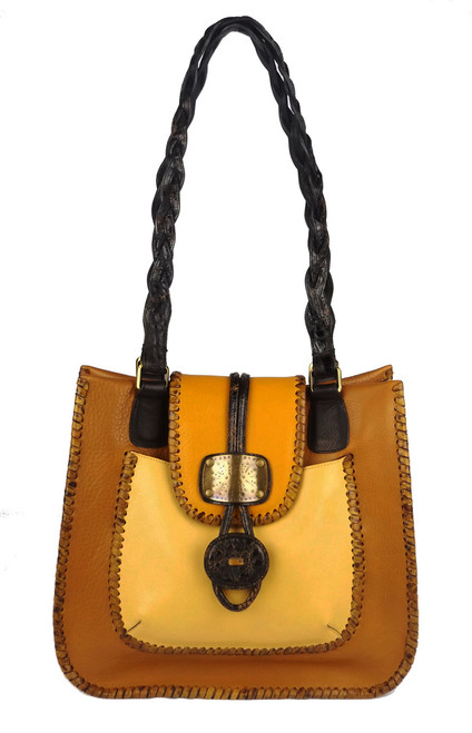 Leather Laced Toggle Shopper