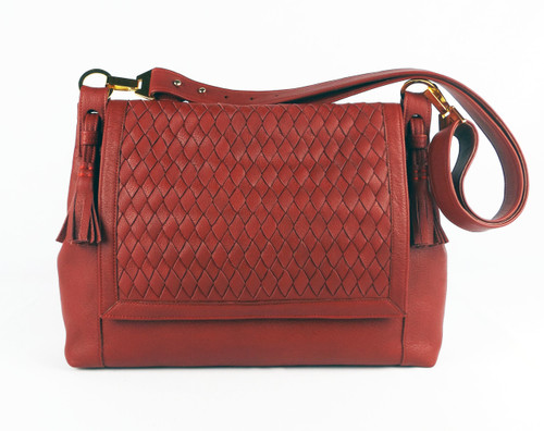 Chelsea Flap Large Messenger Red