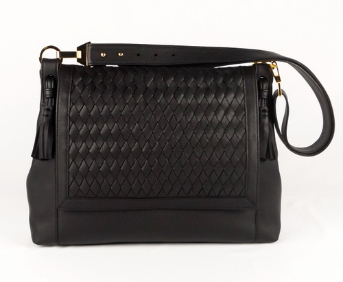 Chelsea Flap Large Messenger Black