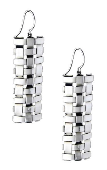 Sterling Silver Trellis Earrings