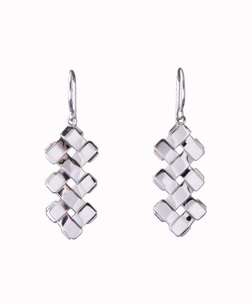 Sterling Silver Petite Double Zig-Zag Earrings