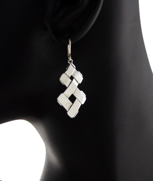 Sterling Silver Figure Eight Earrings