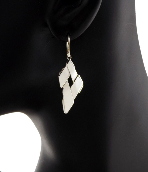Sterling Silver Petite Trapezoid Drop Earrings
