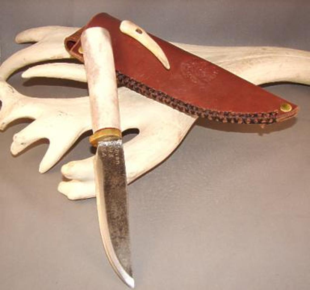 Custom Made Reindeer Antler Knife (The Cougar)