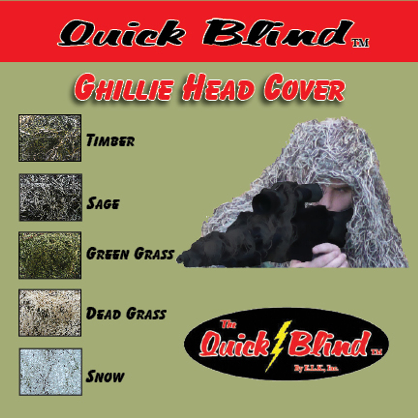 GHILLIE HEAD COVER
