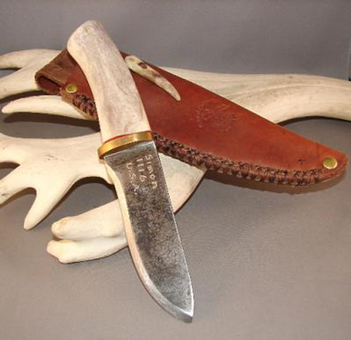 Custom Made Reindeer Antler Knife (The Wolf)