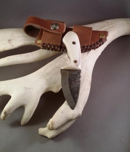 Custom Made Reindeer Antler Knife (The Lynx)