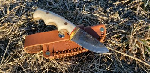 Custom Reindeer Antler Knife (The Bobcat)