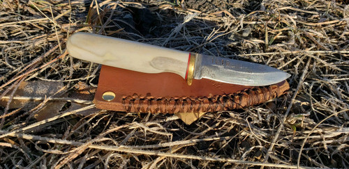Custom Reindeer Antler Knife ( Boot Knife)