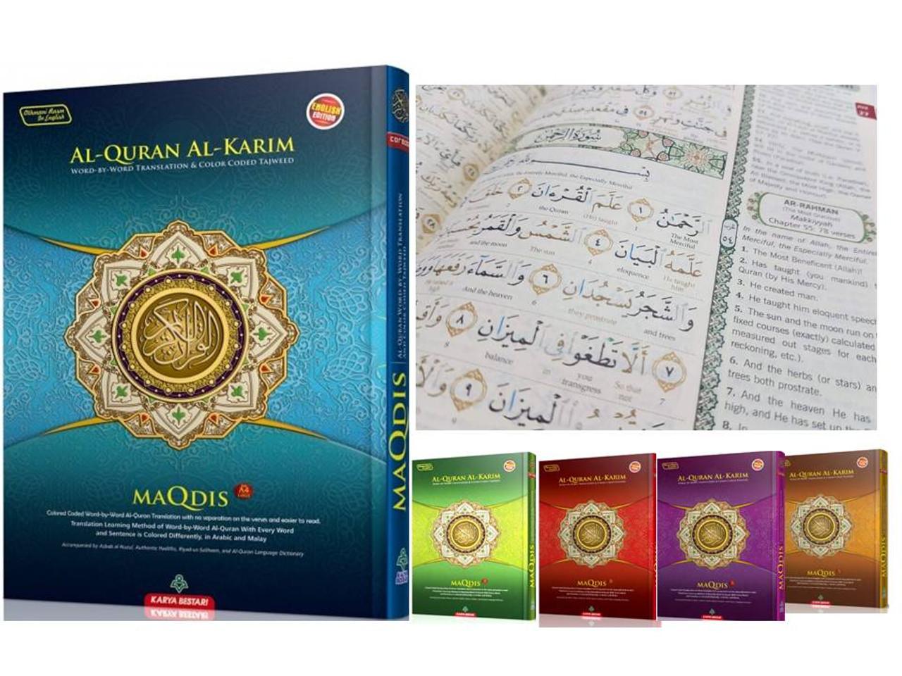 Al-Quran Word-By-Word Translation & Color Coded Tajweed (Arabic-English)