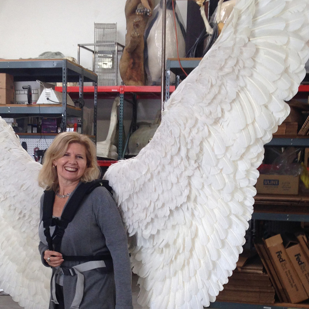 Completed Angel wings modeled by our own Coral Boulden!