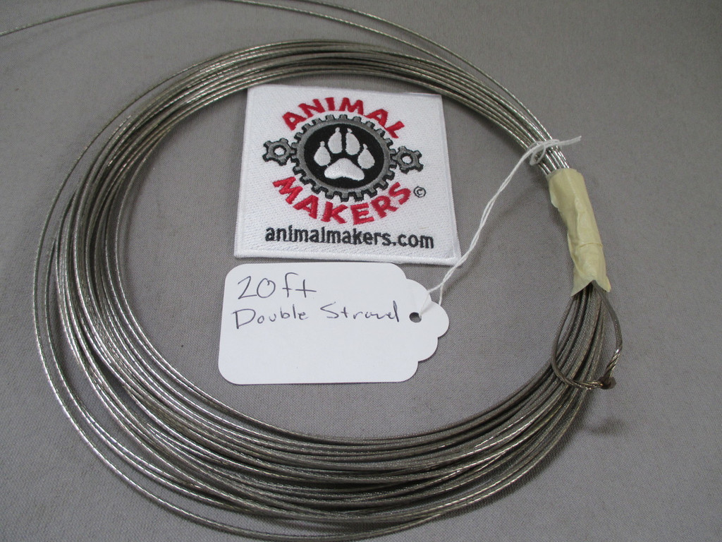 """1/16 """" Steel Cable- 20ft. (doubled)"""