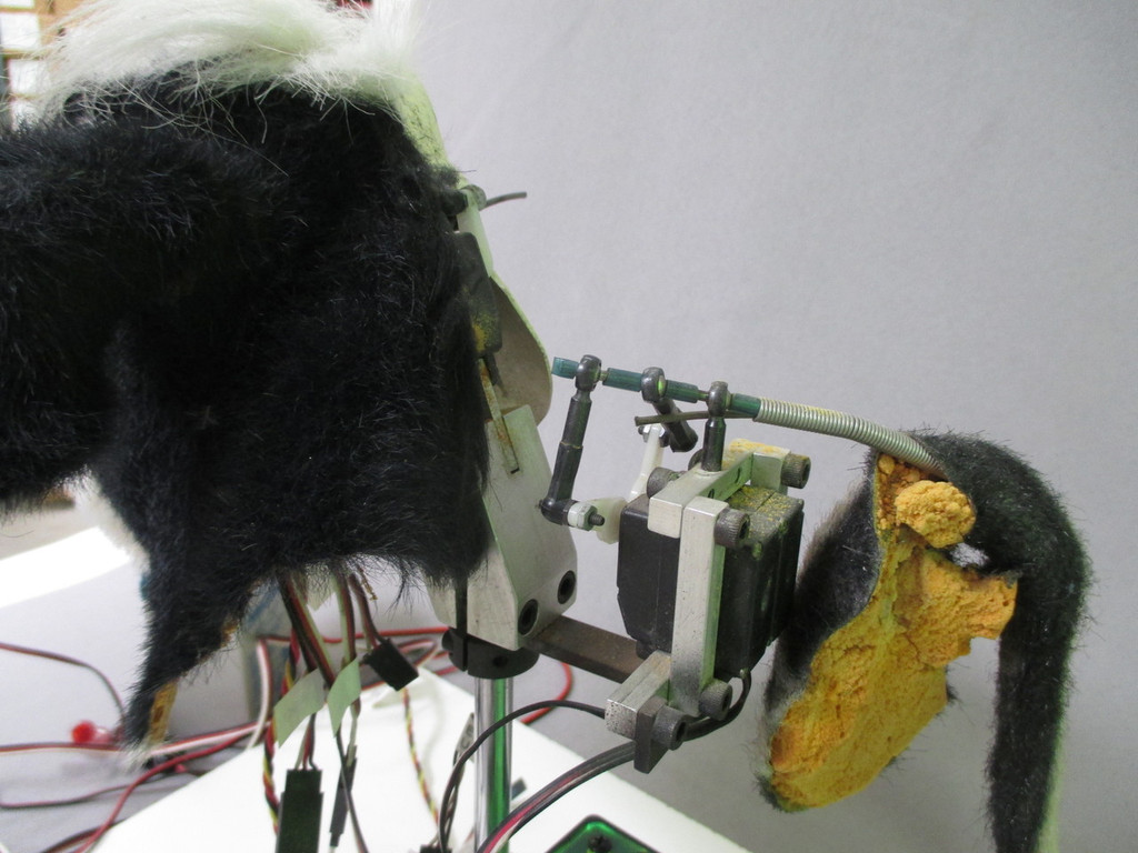 Tail mechanism and servos
