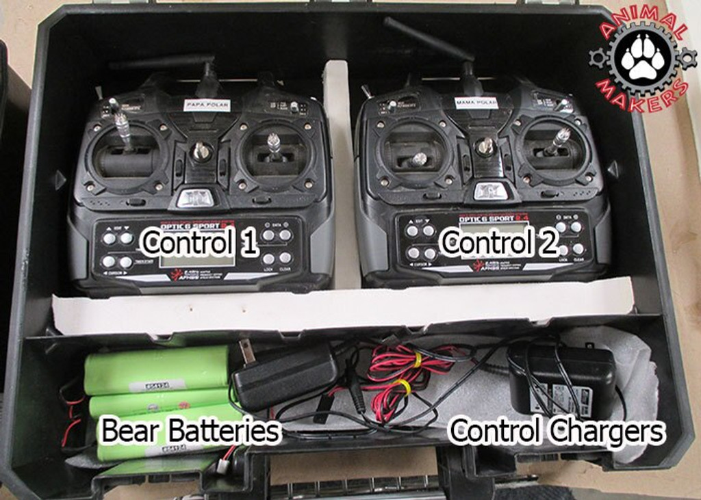 Radio controller and battery set up for this animatronic bear