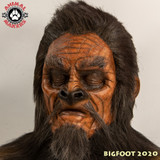 "Bigfoot / Yeti / Sasquatch make up, cowl and hair work completed.  This make up was done on a different actor then the next image shown.  The Bigfoot ""look"" changes as the face of the actor changes."