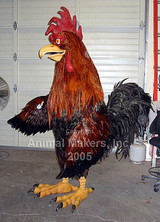 This is a wonderful rooster costume as it was originally constructed.