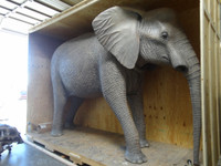 Animated African Elephant Life Sized Replica