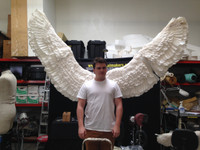 First concept Angel wings modeled by our own Kelsen Jones!