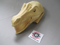 velociraptor head form with foam rubber skin (sold seperately)